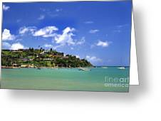 Naguabo Shoreline Greeting Card by Thomas R Fletcher