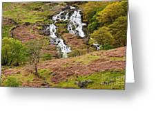 Nant Gwynant Waterfalls IIi Greeting Card by Maciej Markiewicz
