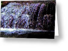 Neon Falls Greeting Card