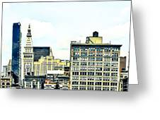 New York City Greeting Card by Ken Marsh