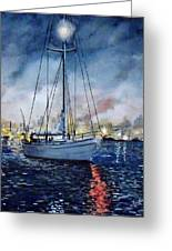 Newport Beach Harbor 4th Of July Greeting Card by John Leclerc