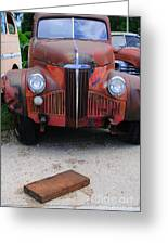 Old Old Car Greeting Card