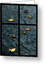 On Golden Duck Pond Greeting Card