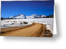Open Road Tothe Sawtooth Mountains Greeting Card