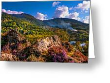 Overview Of The Loch Achray   Greeting Card