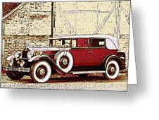 Packard Standard Eight Convertible Greeting Card