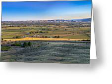 Panoramic Emmett Valley Greeting Card