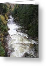 Pemigewasset River Franconia Notch Greeting Card