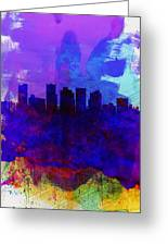 Phoenix Watercolor Skyline 1 Greeting Card