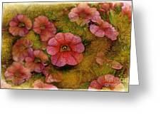 Pink Calibrachoa Photoart II   Greeting Card