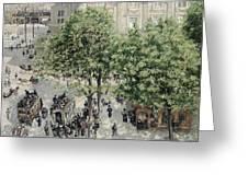 Place Du Theatre Francais Greeting Card