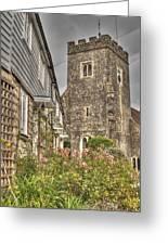 Plaxtol Church And Church Row Greeting Card