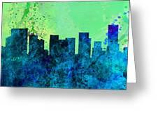 Portland City Skyline Greeting Card
