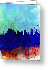 Portland Watercolor Skyline Greeting Card