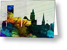 Providence City Skyline Greeting Card