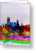 Providence Watercolor Skyline Greeting Card