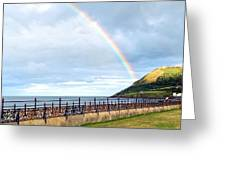 Rainbow Over Bray Head Greeting Card