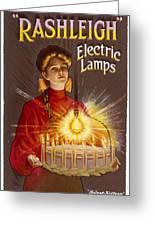 Rashleigh Electric Lamps         Date Greeting Card