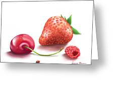Red Fruits Greeting Card