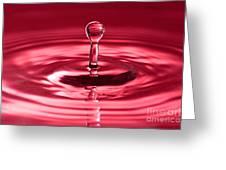 Red Water Splash Greeting Card