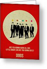 Reservoir Dogs Poster Greeting Card by Naxart Studio