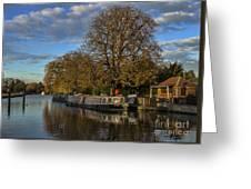 River Thames At Sandford Lock Greeting Card