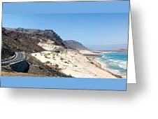 Road And Beaches Of Sao Vicente Cape Verde Greeting Card