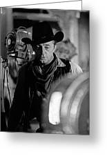 Robert Mitchum Lights Young Billy Young Set  Old Tucson Greeting Card