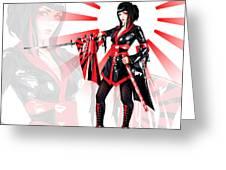 Samurai Elisanth Greeting Card