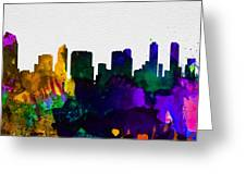 San Diego City Skyline Greeting Card