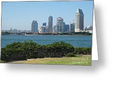 San Diego Viewed From Coronado Island Greeting Card