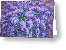 Scented Lilacs Bouquet Greeting Card