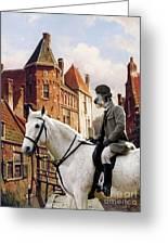 Scottish Deerhound Art Canvas Print Greeting Card