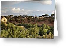 Segovia Hills Greeting Card by Viacheslav Savitskiy