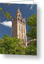 Seville Cathedral Belltower Greeting Card by Viacheslav Savitskiy
