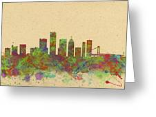 Skyline Of Detroit Usa Greeting Card