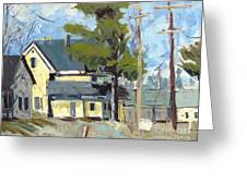 Sold Wabash Indiana Home Greeting Card by Charlie Spear