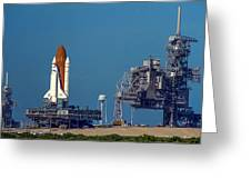 Space Shuttle Roll-around Greeting Card