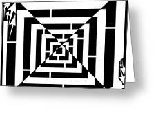 Spin Art Off Set Targeting Maze  Greeting Card
