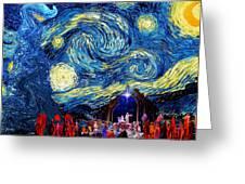 Starry Night In Bethlehem Greeting Card