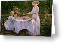 Summer Afternoon Tea Greeting Card