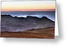 Sunrise At Haleakala Crater, Maui Greeting Card