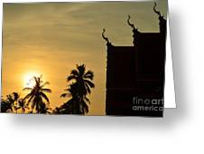 Sunset In The Tempel Greeting Card