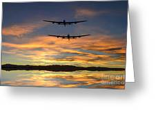 Sunset Lancasters Greeting Card