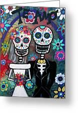 Te Amo Wedding Dia De Los Muertos Greeting Card