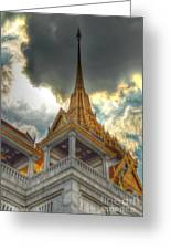 Temple Roof Greeting Card