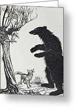 The Bear And The Fox Greeting Card