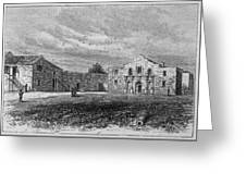 The Exterior Of The Alamo         Date Greeting Card