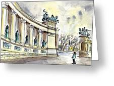 The Millennium Monument In Budapest Greeting Card