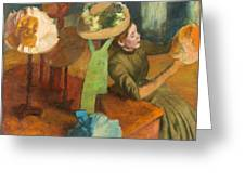 The Millinery Shop Greeting Card